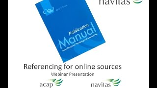 Referencing online sources webinar recording