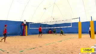 preview picture of video 'LUPO/VANNI _ CARAMBULA/RANGHIERI - BeachVolleyIndoor'