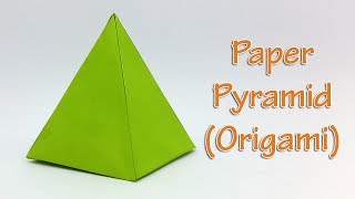 Paper Pyramid Easy Tutorial - How to make an Origami 3D Pyramid