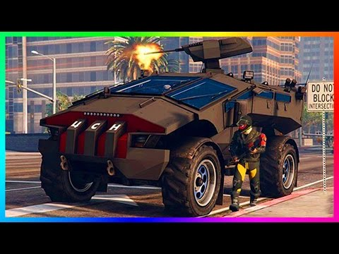 GTA ONLINE GUNRUNNING MILITARY DLC HIDDEN ARMY VEHICLES, NEW HIGH POWERED WEAPONS & MORE! (GTA 5)