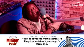 Barry Jhay - Davido saved me from Kizz Daniel's illegal record deal three years ago