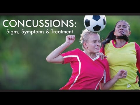 Video Concussion Signs, Symptoms & Treatment
