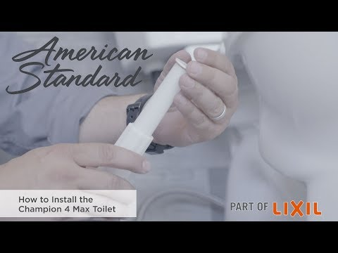 How To Install An American Standard Champion 4 Toilet