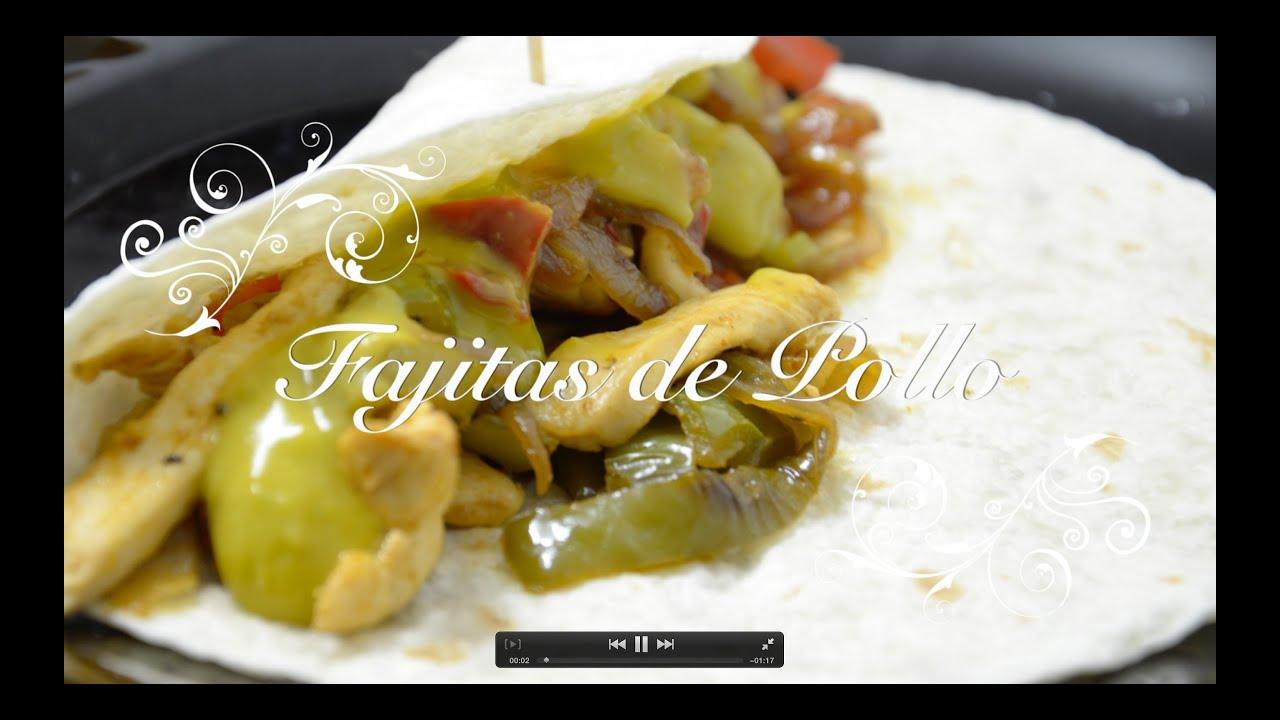Receta de Fajitas de Pollo | Recetas de Cocina Faciles y Economicas | Recetas de Pollo Faciles