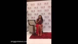Anggun during the meet-and-greet at the SK-II event #ChangeDestiny