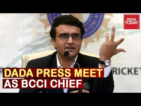 Sourav Ganguly Press Meet After Taking Charge As BCCI President | Watch Video