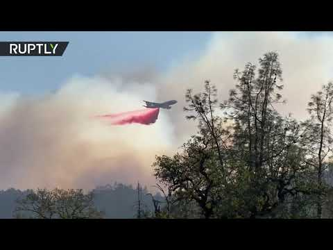 Firefighters struggle to contain rapidly growing Californian Glass Fire