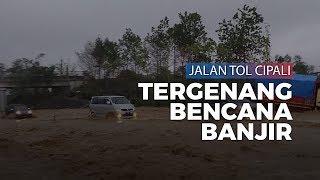 Video Banjir di Tol Cipali, Air Berwarna Kecokelatan Penuhi Jalan
