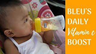 How I Prepare Freshly Squeezed Orange Juice Daily for My Baby | Baby Vlog #34 | All About Bleu