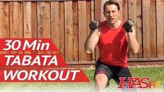 30 Min Dumbbell Tabata Workout - HASfit Brutal Tabata Training Exercises by HASfit