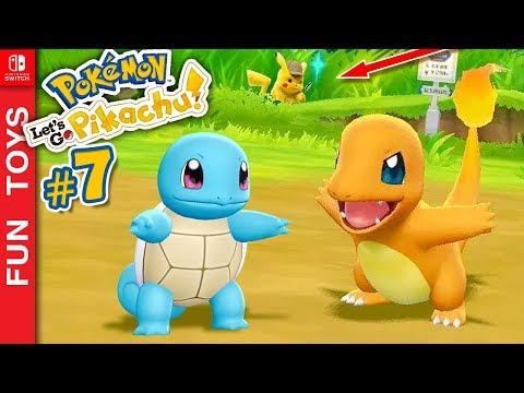 Pokémon: Let's Go #7 ⚡️ Conseguimos o CHARMANDER e o SQUIRTLE em um GAMEPLAY SÓ! E outras surpresas!
