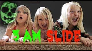 3AM Terrifying Stair Slide!