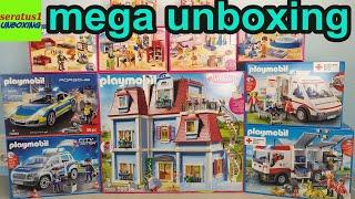 mega unboxing 7 Spielzeug auspacken seratus1 Playmobil Polizei DRK Puppenhaus Dollhouse