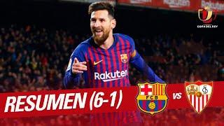 Highlights FC Barcelona vs Sevilla FC (6-1)