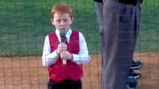 Cute Kid Sings National Anthem With Hiccups | Whats Trending Now