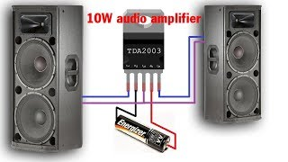 Download Video TDA2003 10W Hi-RES Audio Amplifier | Simple circuit diagram | Mạch âm ly MP3 3GP MP4