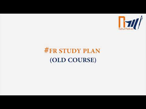 FR Study Plan Old Course