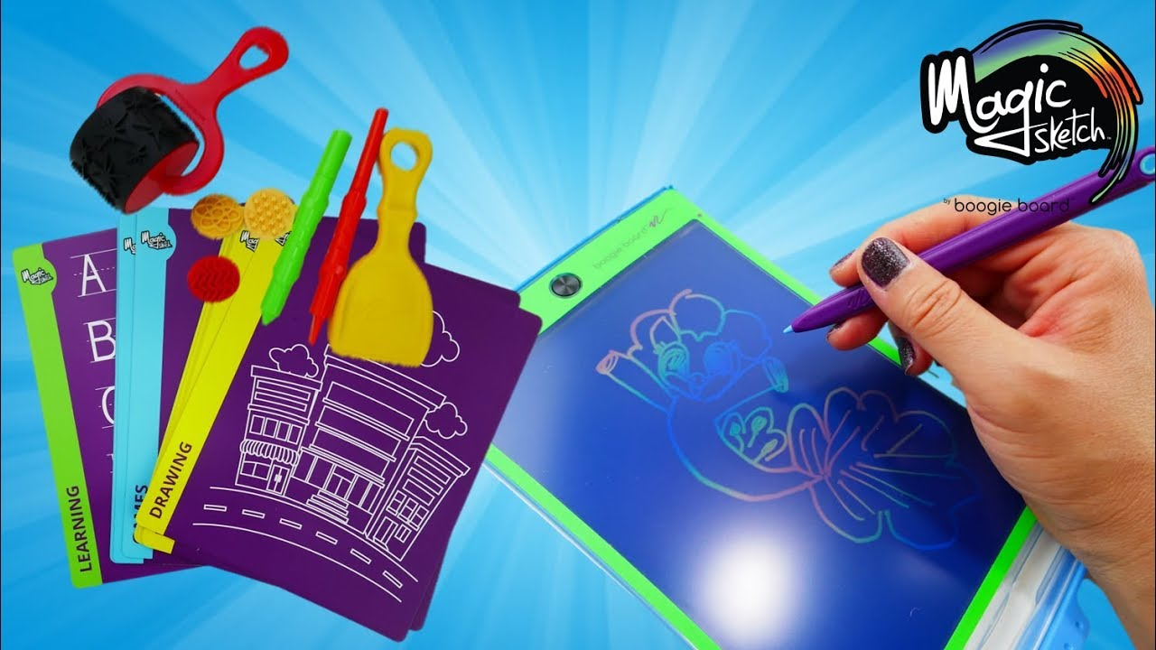 Magic Sketch Deluxe Drawing Tablet for Kids by Boogie Board Review | Evies Toy House