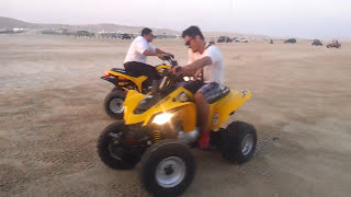 preview picture of video 'Dune Buggy Ride At SeaLine Beach Qatar'