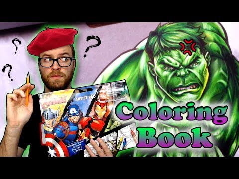 Professional Artist Colors a CHILDRENS Colouring Book..? | HULK | 11