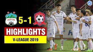Highlights HAGL 5-1 Hải Phòng   Minh Vương hóa Messi ghi hattrick & màn bứt tốc điên rồ của Văn Toàn