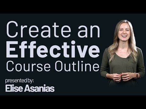 Create an effective Course Outline - Three Tips - YouTube