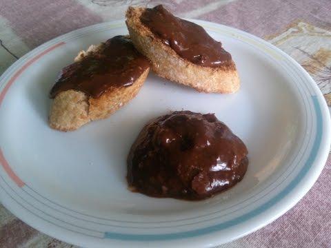 Receta Crema para untar de chocolate. Muy fácil. Como preparar paso a paso