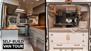 VAN TOUR 🎬// Couple's Unique SELF-BUILD CAMPERVAN With EXTENDABLE REAR TERRACE by Nate Murphy