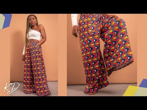 HOW TO SEW WIDE LEG PALAZZO TROUSER | KIM DAVE
