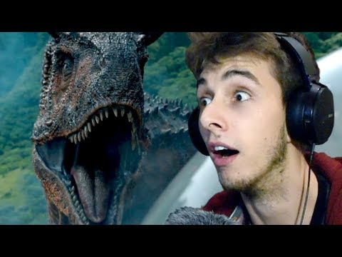 JURASSIC WORLD 2 TRAILER REACTION! (2018)