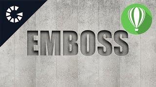 Emboss   CorelDraw Tutorial #20