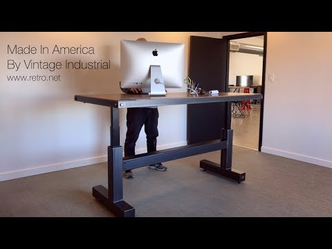 Electric Crank Desk - Our New Sit Stand Desk