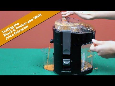 Testing the Black & Decker 400-Watt Juice Extractor