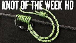 Ascend a Wet or Icy Climbing Rope with the Bachmann Knot - ITS Knot of the Week HD