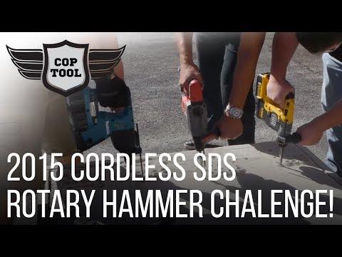 2015 Cordless SDS-Plus Rotary Hammer Challenge – Bosch, Dewalt, Makita, Metabo, Milwaukee