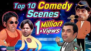 Top 10 Bollywood Comedy Scenes - Rajpal Yadav | Johnny Lever | Paresh Rawal | Akshay Kumar | Govinda
