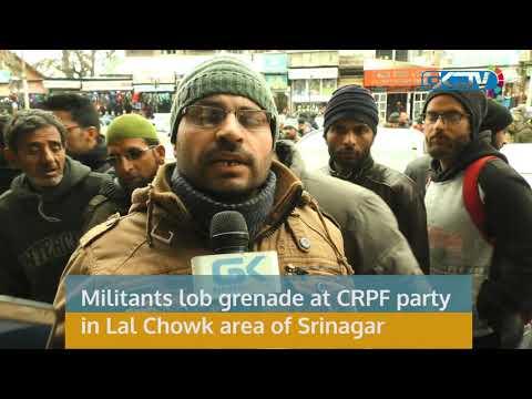 Militants lob grenade at CRPF party in Lal Chowk area of Srinagar