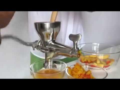 EXTRACTORES MANUALES DE JUGOS PRENSADOS EN FRÍO (cold press para zumos clorofilas, frutas, verduras)