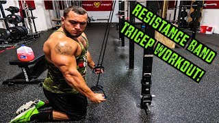 Intense 5 Minute Resistance Band Tricep Workout by Anabolic Aliens