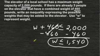 Writing An Inequality From A Word Problem