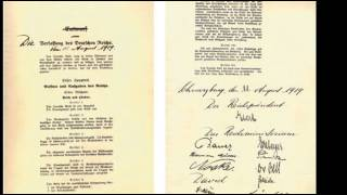 Weimar Republic - Establishment