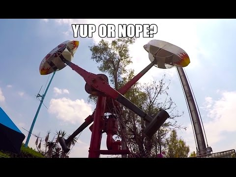 Loop O Plane Classic Amusement Park Ride POV 60FPS The Hammer La Feria Mexico City