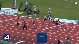 Bondoufle 2018 : Finale 110 m haies Cadets (Kenny Fletcher en 13''27)