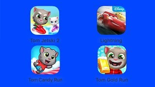 Talking Tom Jetski 2, Cars, Talking Tom Candy Run, Walking Tom Gold Run [iOS Gameplay]