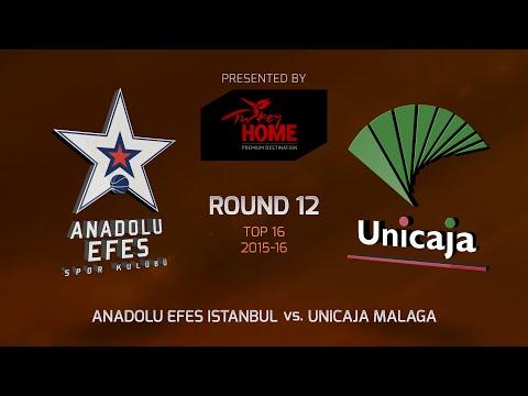 Highlights: Top 16, Round 12, Anadolu Efes Istanbul 86-67 Unicaja Malaga