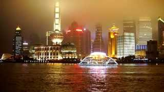 preview picture of video 'Shanghai Skyline The Bund at Night Fog China HD'