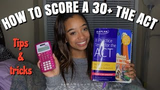 HOW TO GET A 30+ ON THE ACT  VLOGMAS DAY 12