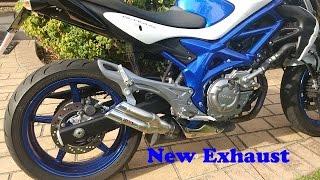 Suzuki Gladius SFV650 Exhaust change - Standard exhaust to IXIL Hyperlow