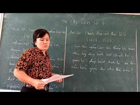 Ôn tập lịch sử 7 (bài 19 và 20) _ Cô Lài