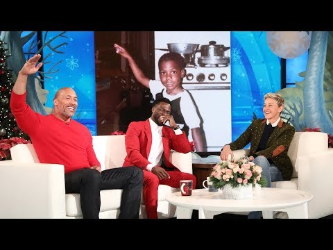Dwayne Johnson Reveals Kevin Hart's Awkward Teen Photo (видео)